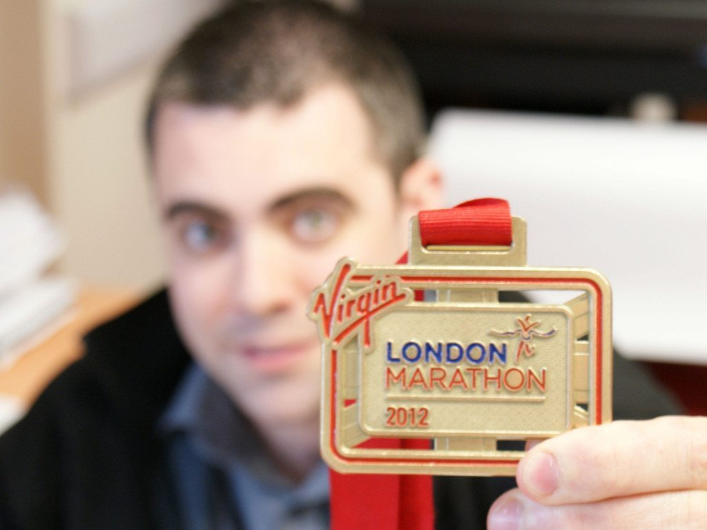 Steve completes the London Marathon