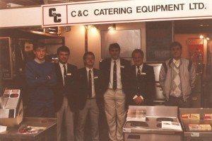 Paul on right hand side of photo 1987 along with John Kitchin, Peter Kitchin, Ian Berrow
