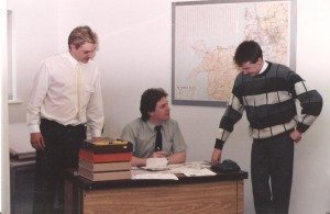 Paul to left with two former C&C colleagues in 1988