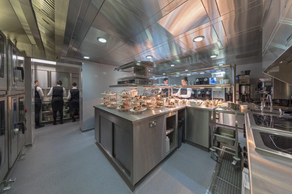 Commercial catering foodservice facility Kitchin staff dining restaurant