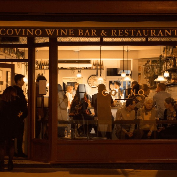 Covino Restaurant, Chester, external view pre Covid restrictions